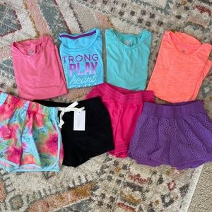 Girls Mix and Match Athletic Workout Outfit Bundle